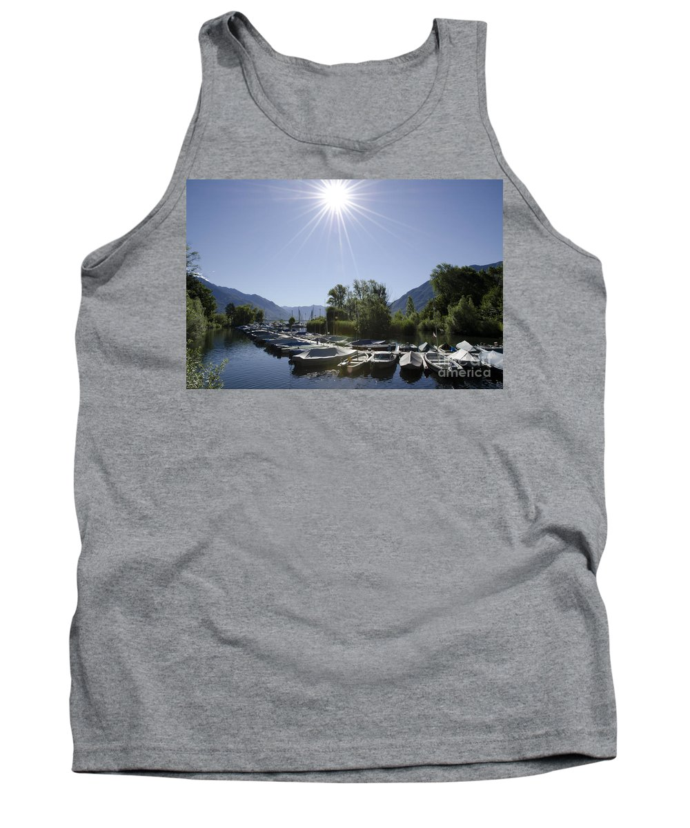 Port Tank Top featuring the photograph Small Harbor by Mats Silvan