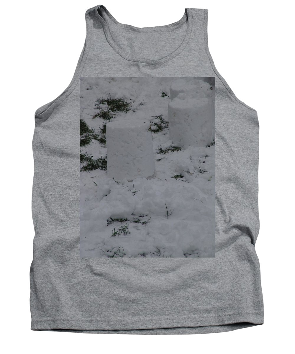 Snow Tank Top featuring the photograph Snow Pillers by Ashok Patel