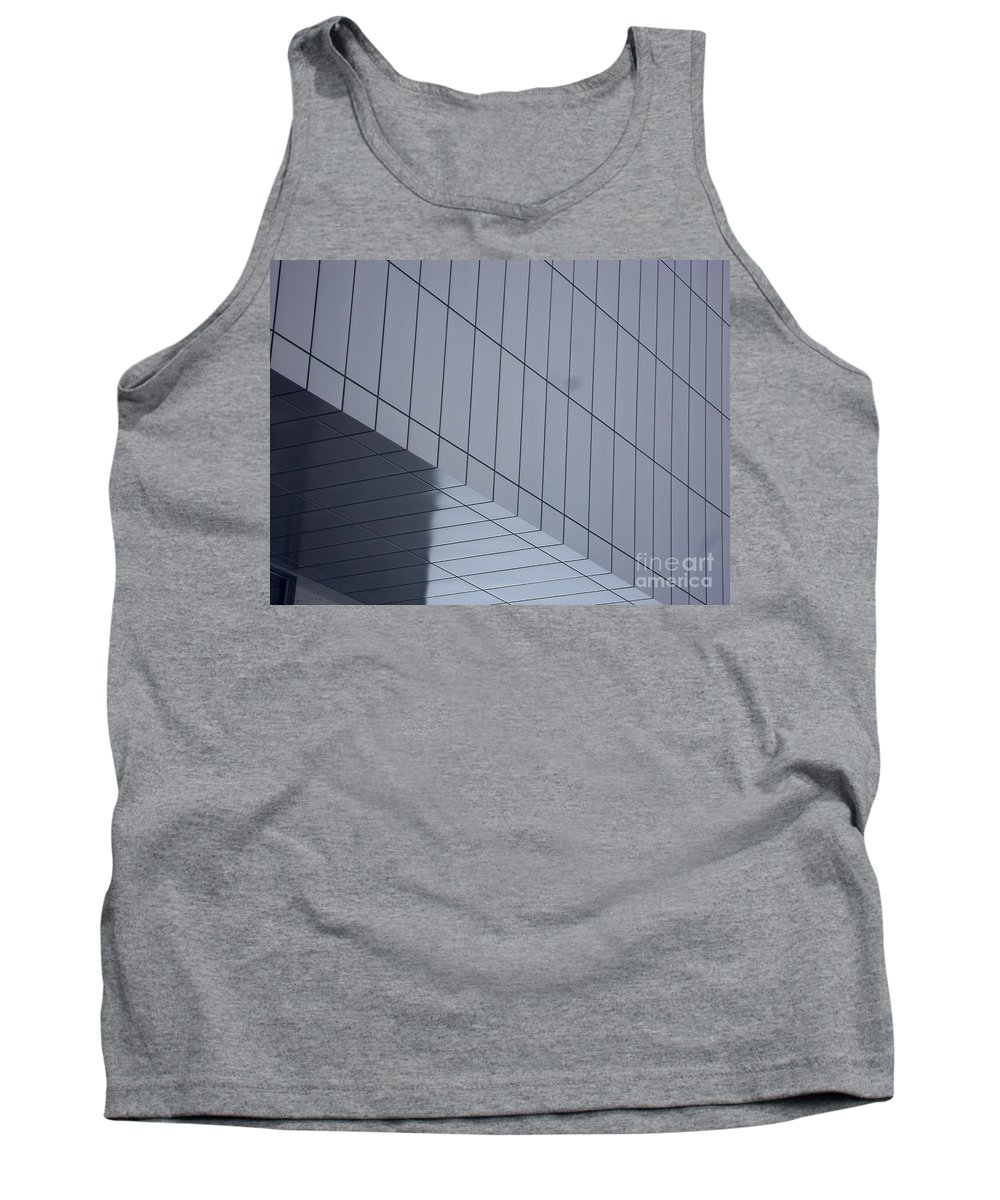 Montreal Tank Top featuring the mixed media Soft Gray Glass by Contemporary Luxury Fine Art
