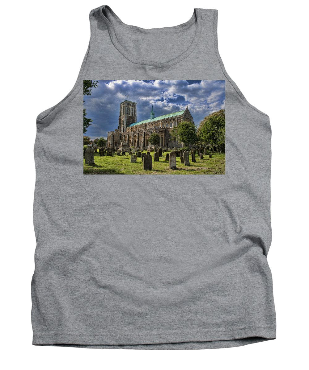 Southwold Tank Top featuring the photograph St Edmund King And Martyr Southwold by Dave Godden