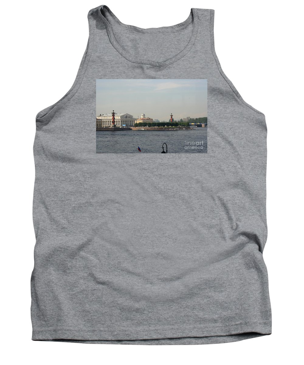 Exchange Tank Top featuring the photograph St Petersburg And River Neva - Russia by Christiane Schulze Art And Photography