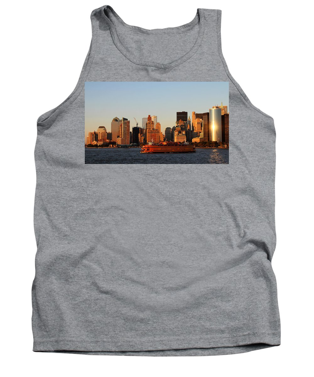 New York Tank Top featuring the photograph Staten Island Ferry 3 by Andrew Fare