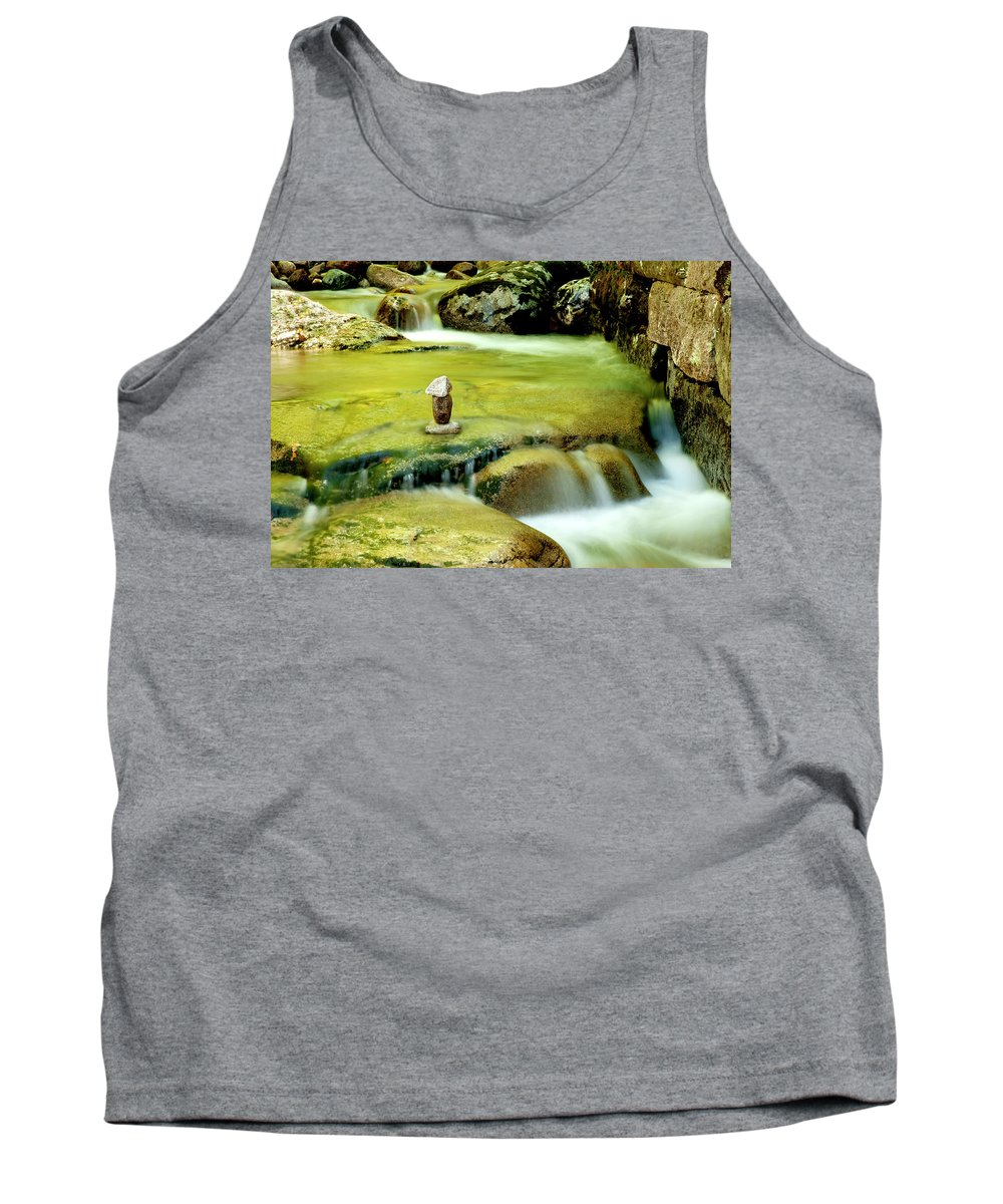 Water Tank Top featuring the photograph Stone Works by Greg Fortier