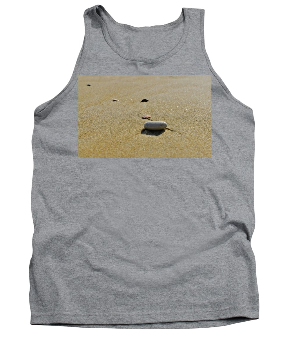 Mediterranean Tank Top featuring the photograph Stones In The Sand by Michael Goyberg