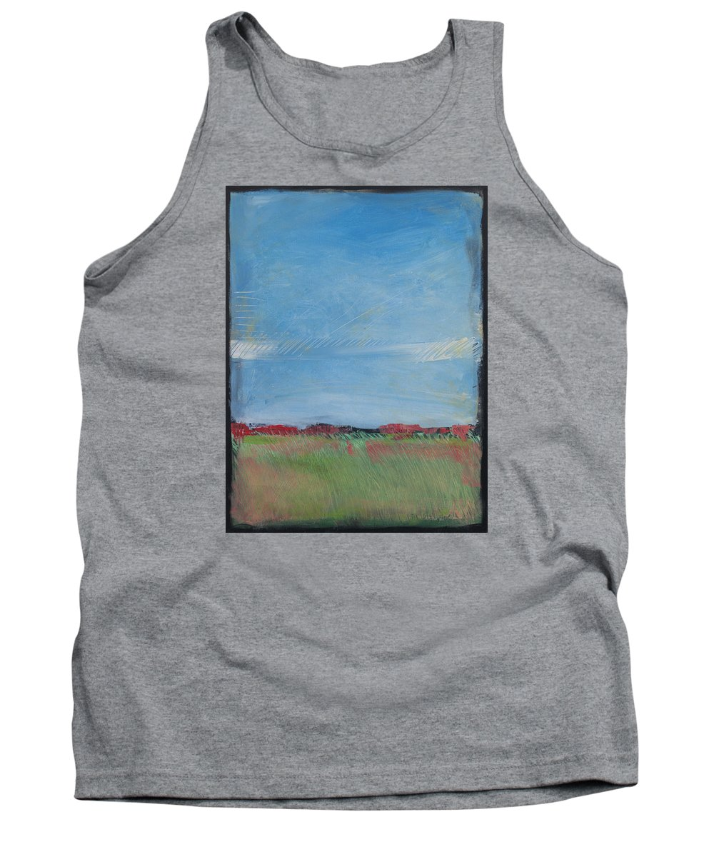 Summer Tank Top featuring the painting Summer Field by Tim Nyberg