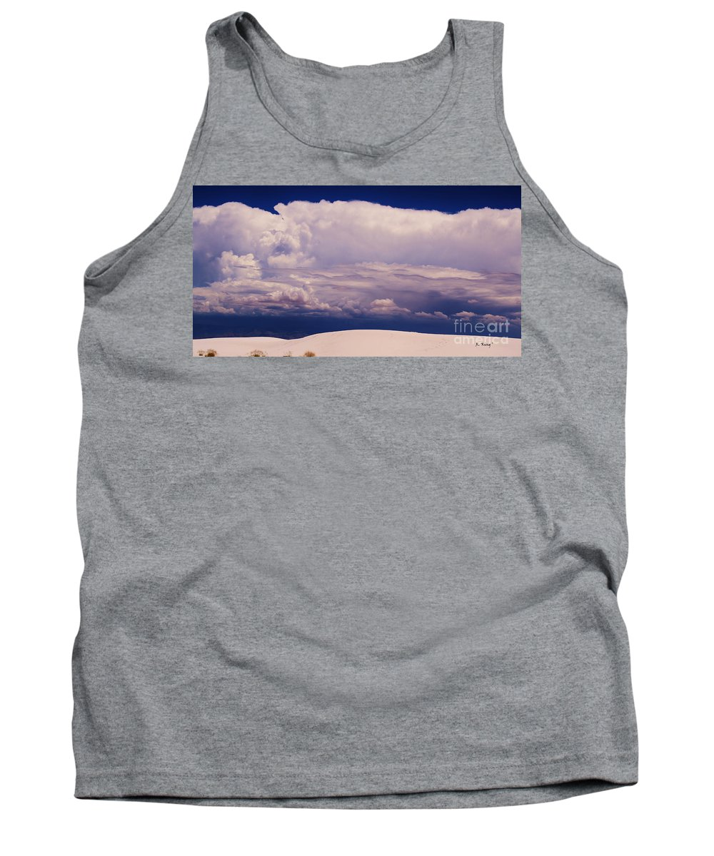 Roena King Tank Top featuring the photograph Summer Storms Over The Mountains 2 by Roena King