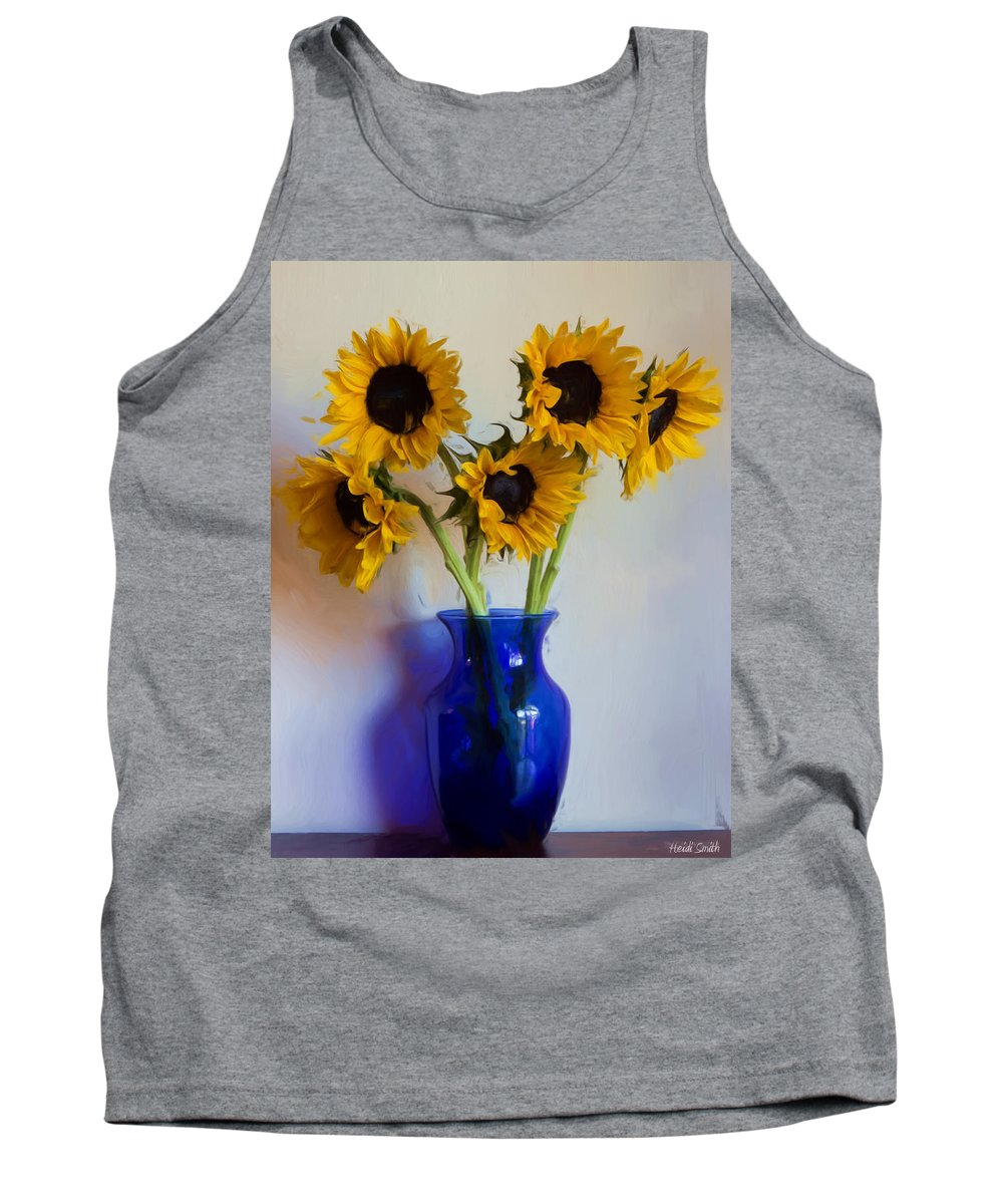 Sunflowers Tank Top featuring the photograph Sunflower Still Life by Heidi Smith