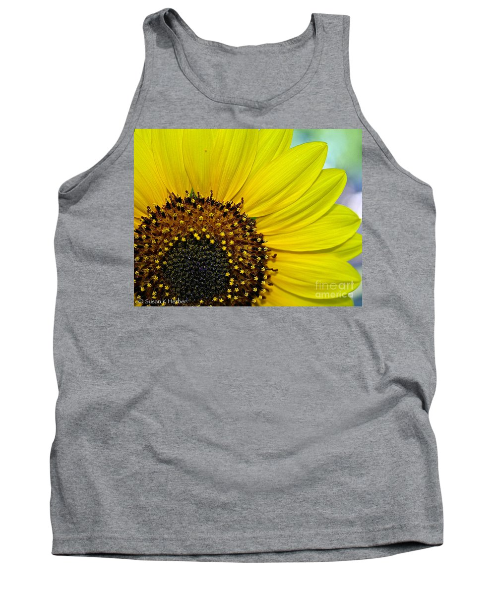 Outdoors Tank Top featuring the photograph Sunny Summer Sunflower by Susan Herber