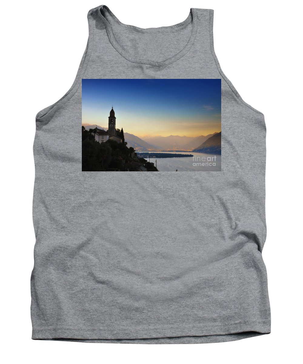 Tower Tank Top featuring the photograph Sunrise Over An Alpine Lake by Mats Silvan