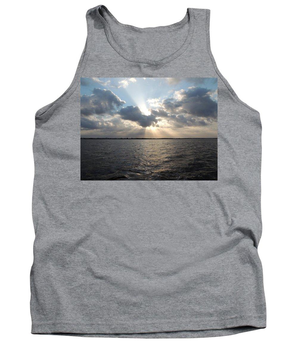 Sunrise Tank Top featuring the photograph Sunrise Over Keaton Beach by Marilyn Holkham