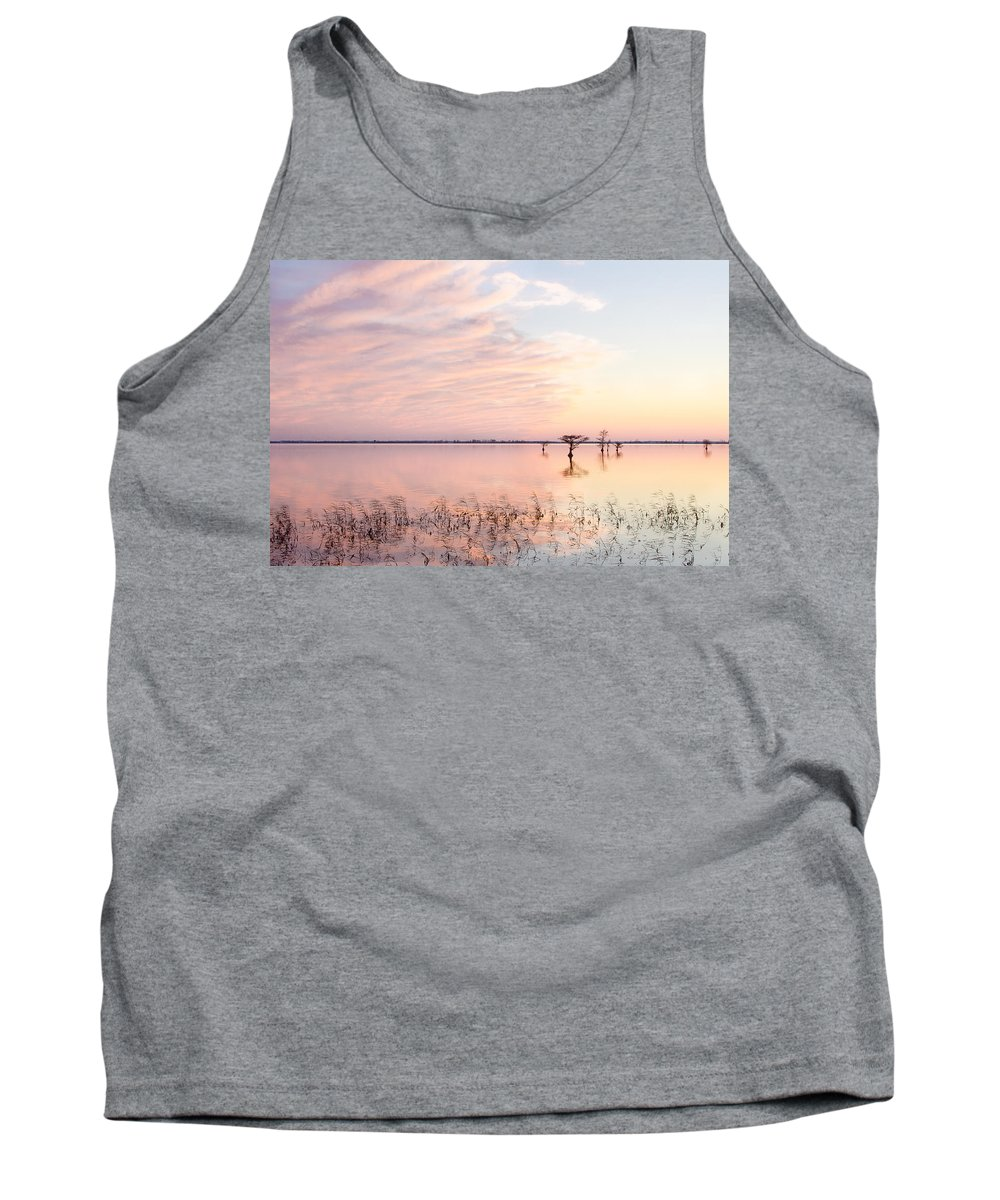 Sunset Tank Top featuring the photograph Sunset - Pretty In Pink by Bill Swindaman