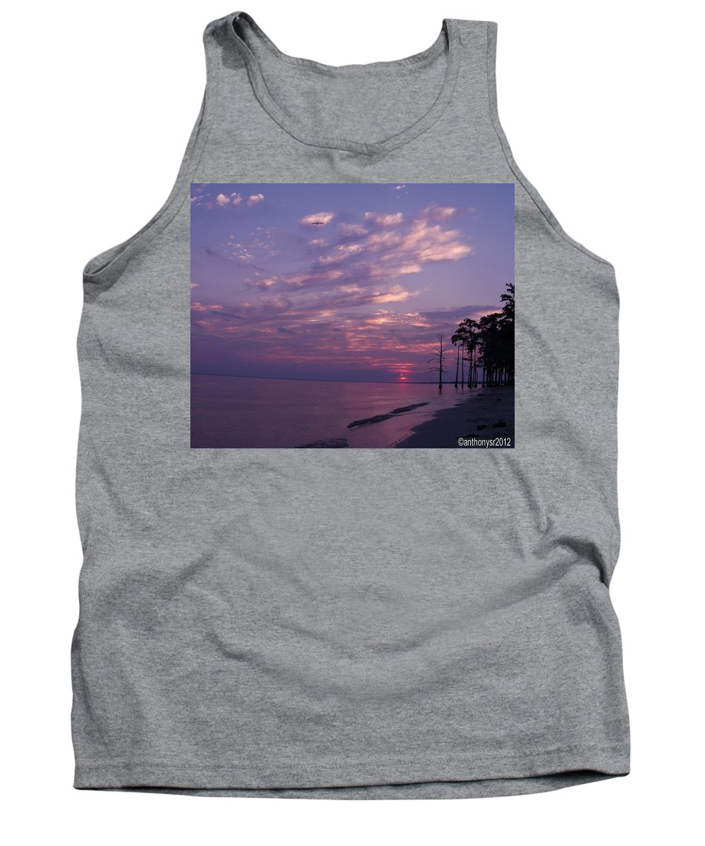 Sunset Tank Top featuring the photograph Sunset At Fountianbleu State Park by Anthony Walker Sr
