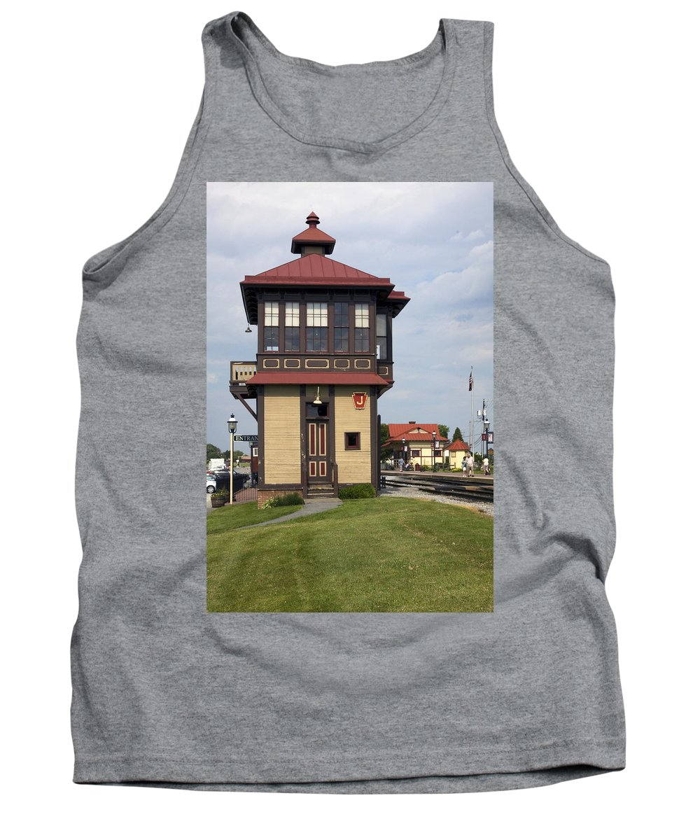 Historic Switch Tower Tank Top featuring the photograph Switch Tower by Sally Weigand