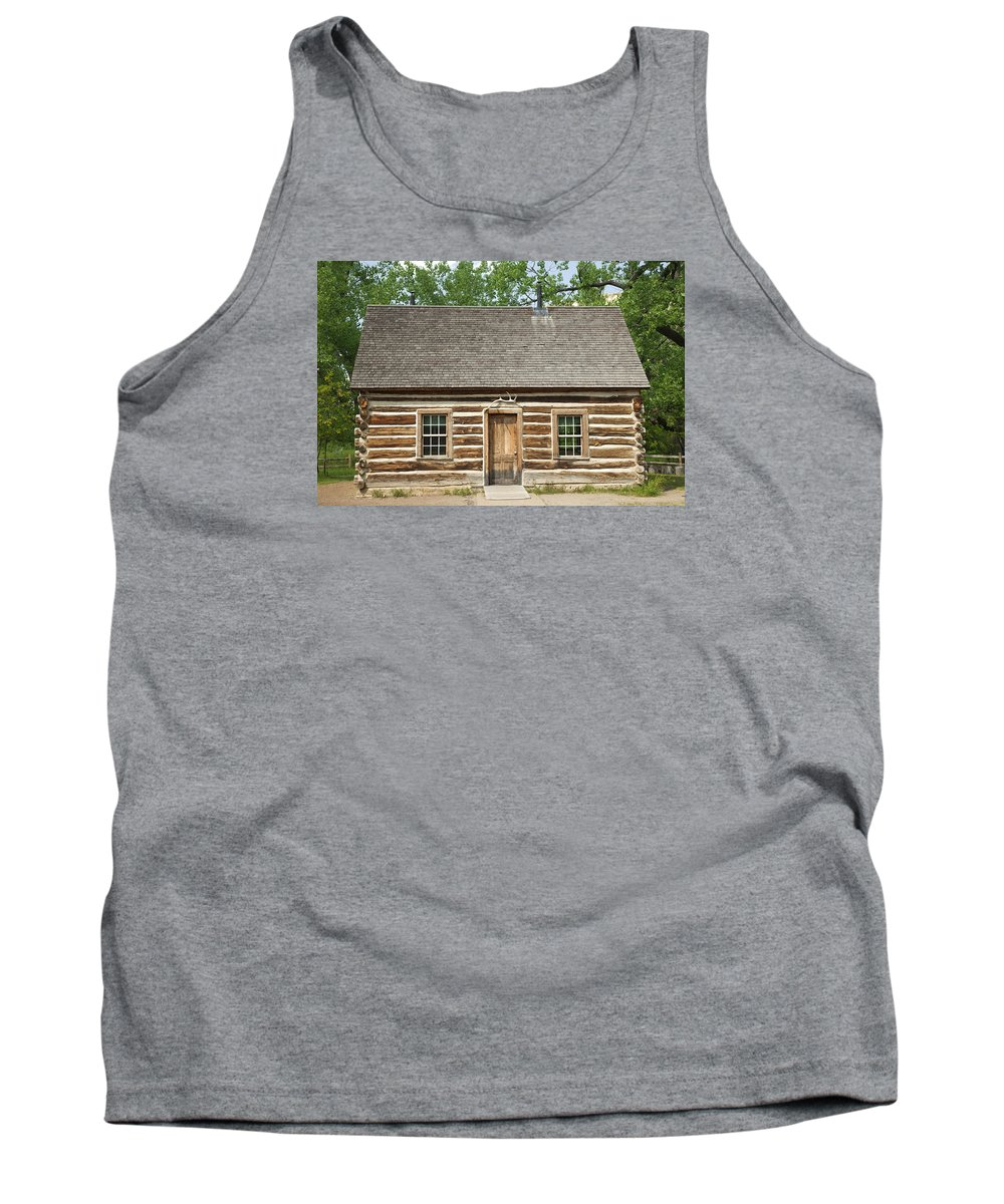 Past Tank Top featuring the photograph Teddy Roosevelt's Maltese Cross Log Cabin by John Stephens