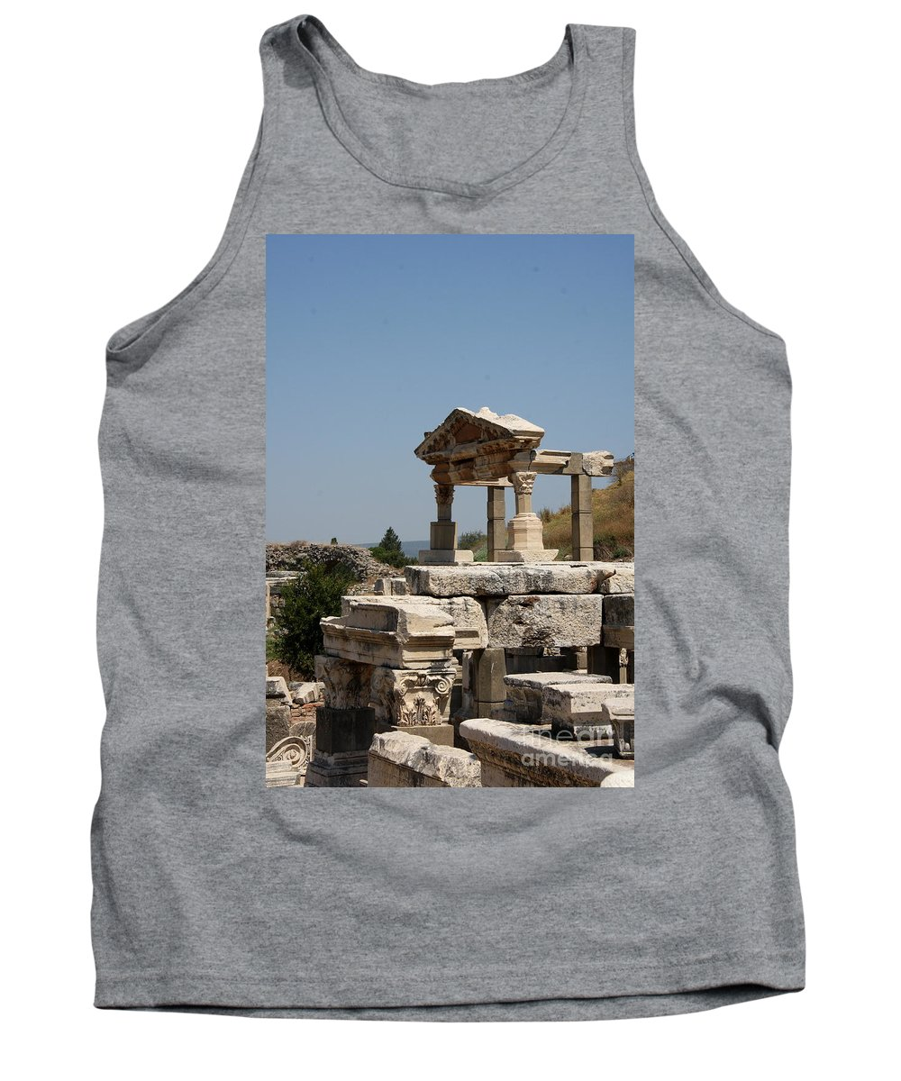 Temple Ruin Tank Top featuring the photograph Temple Ruin - Ephesus by Christiane Schulze Art And Photography