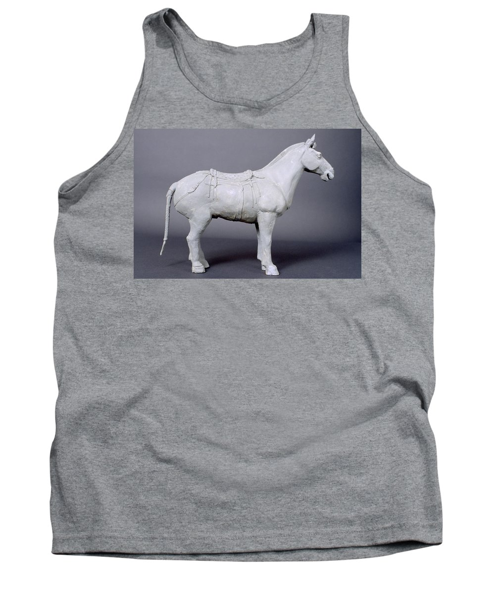 Terracotta Horse Tank Top featuring the photograph Terracotta Warrior's Horse by Shaun Higson