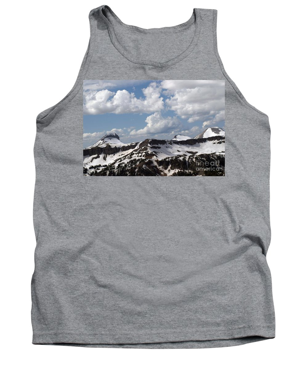 Rendezvous Mountain Tank Top featuring the photograph Teton Range by Living Color Photography Lorraine Lynch