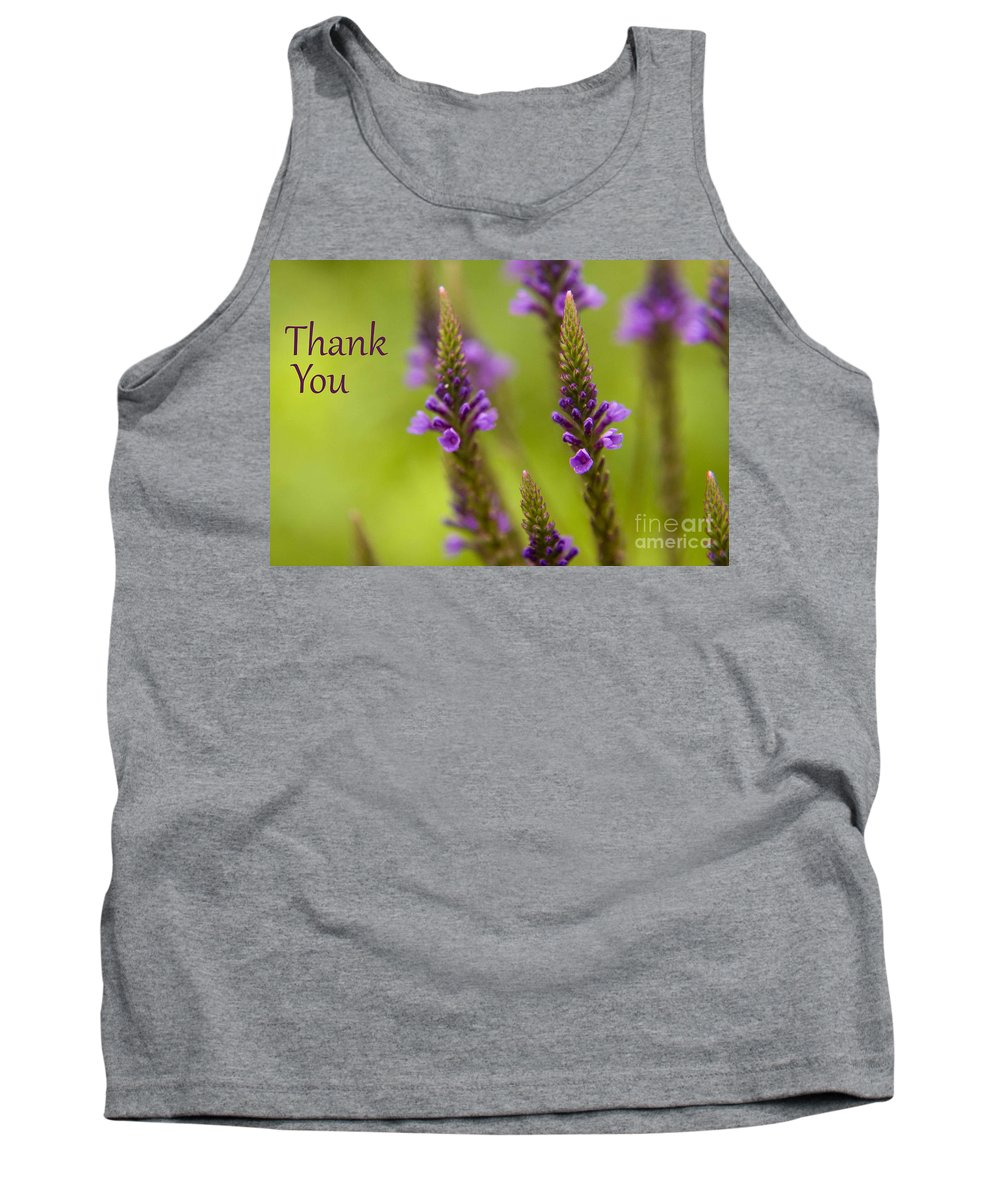 Thank You Tank Top featuring the photograph Thank You Wildflowers by Darleen Stry