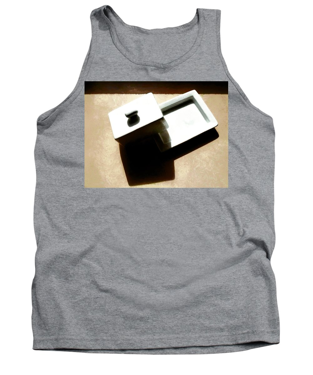 Butter Dish Tank Top featuring the photograph The Butter Dish by Steve Taylor