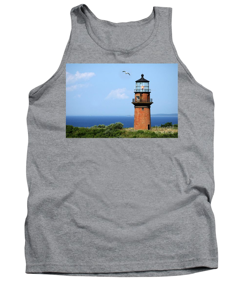Lighthouse Tank Top featuring the photograph The Lighthouse On Martha's Vineyard by Mike Nellums
