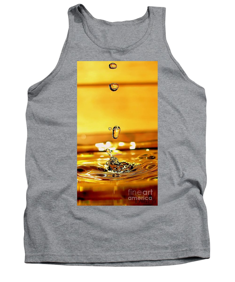 Water Tank Top featuring the photograph The Midas Touch by Beth Phifer