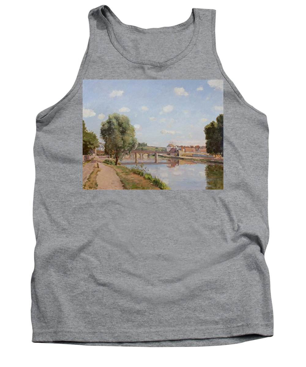 The Tank Top featuring the painting The Railway Bridge by Camille Pissarro