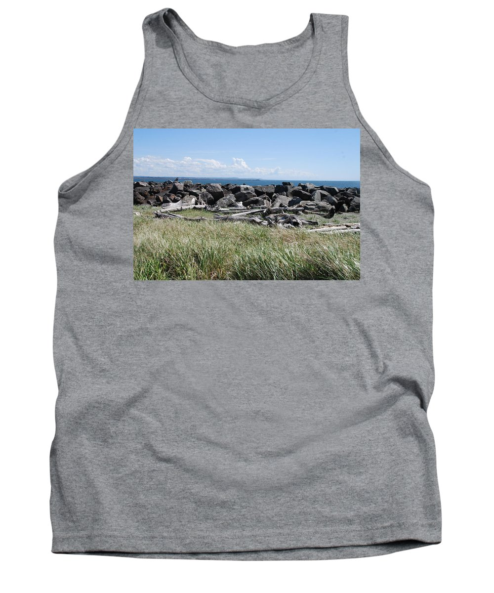 Ocean Tank Top featuring the photograph The Rugged Coast by Michael Merry