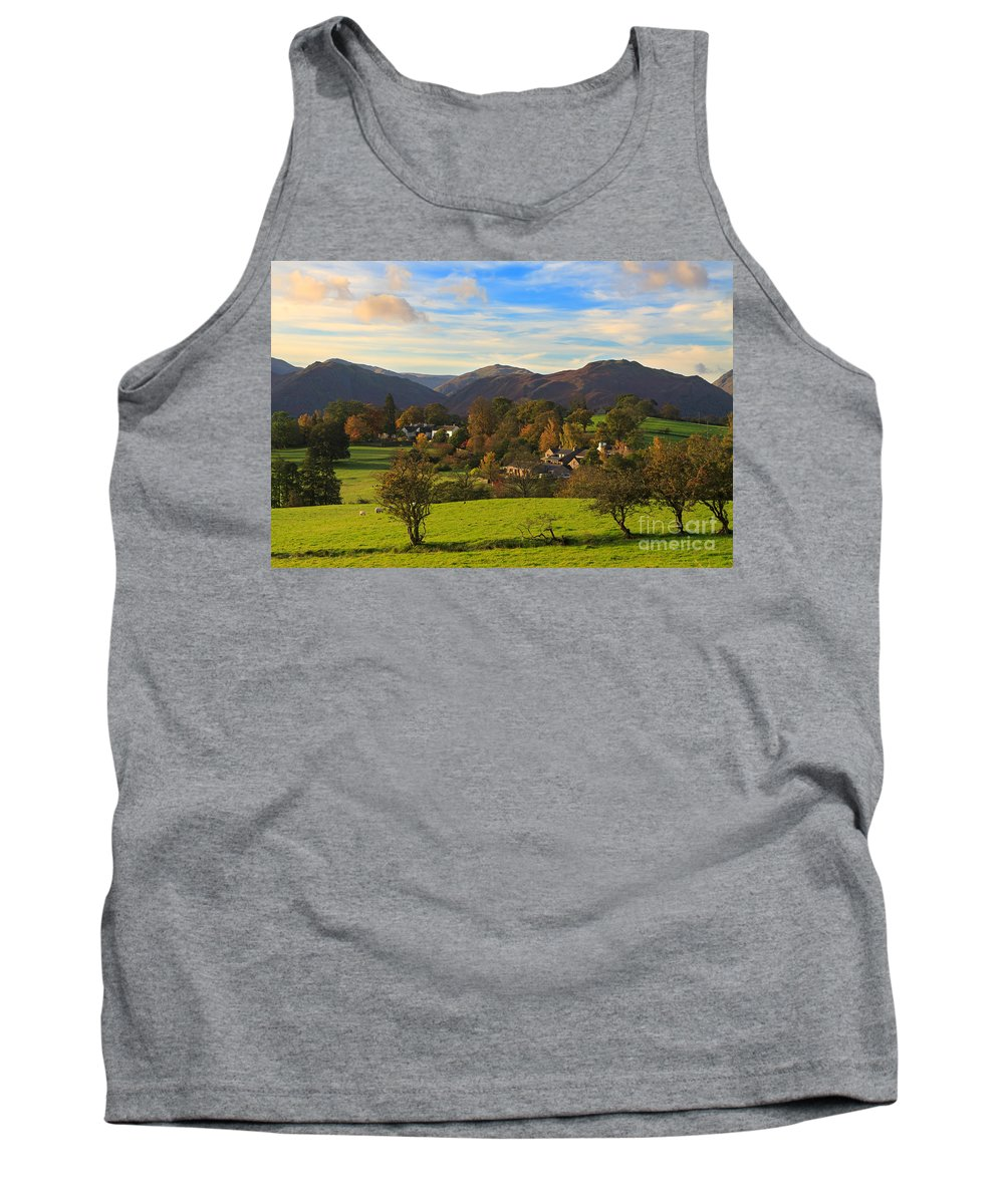 Watermillock Tank Top featuring the photograph The Village Of Watermillock In Cumbria Uk by Louise Heusinkveld