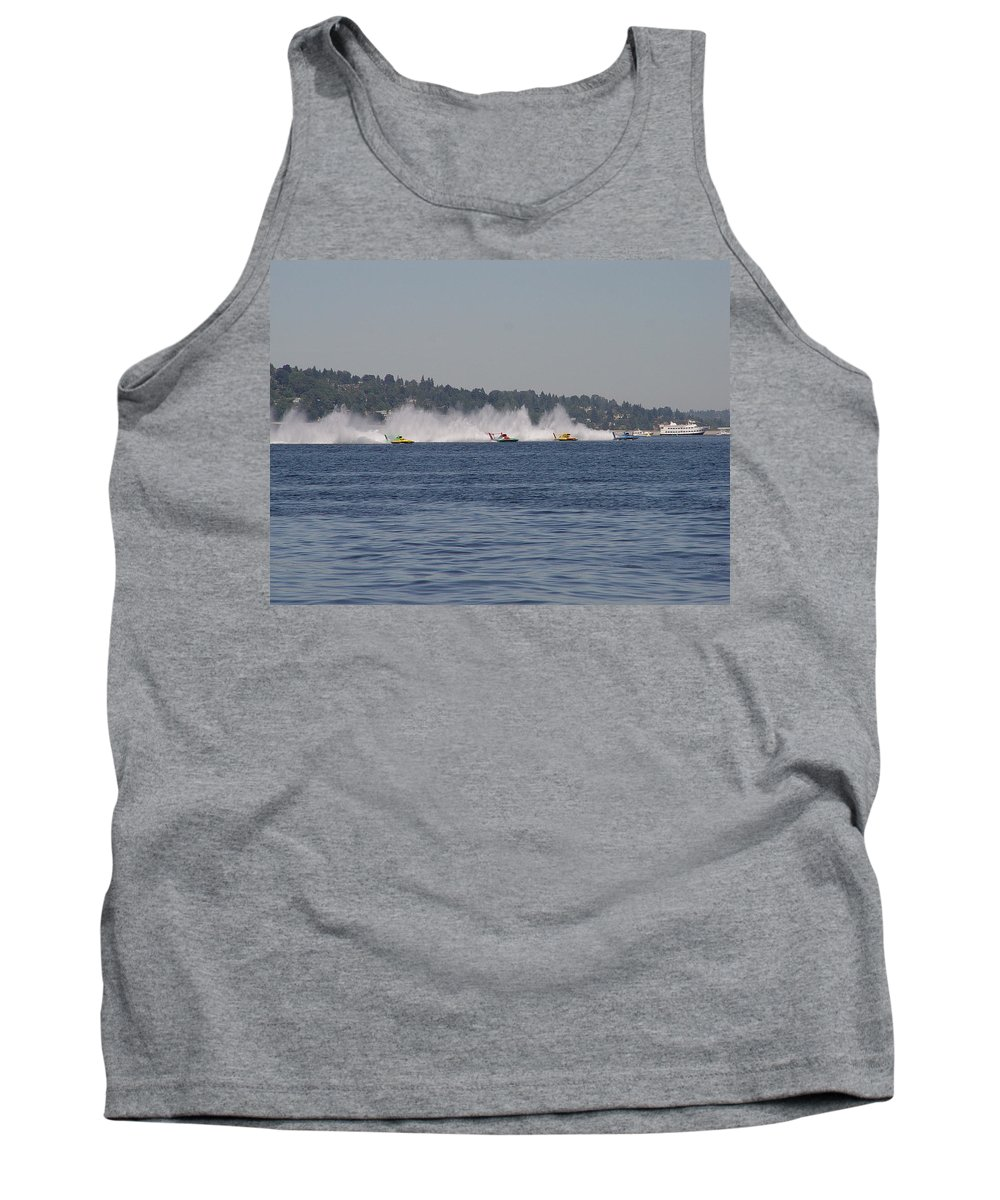 Racing Tank Top featuring the photograph Time To Race by Michael Merry
