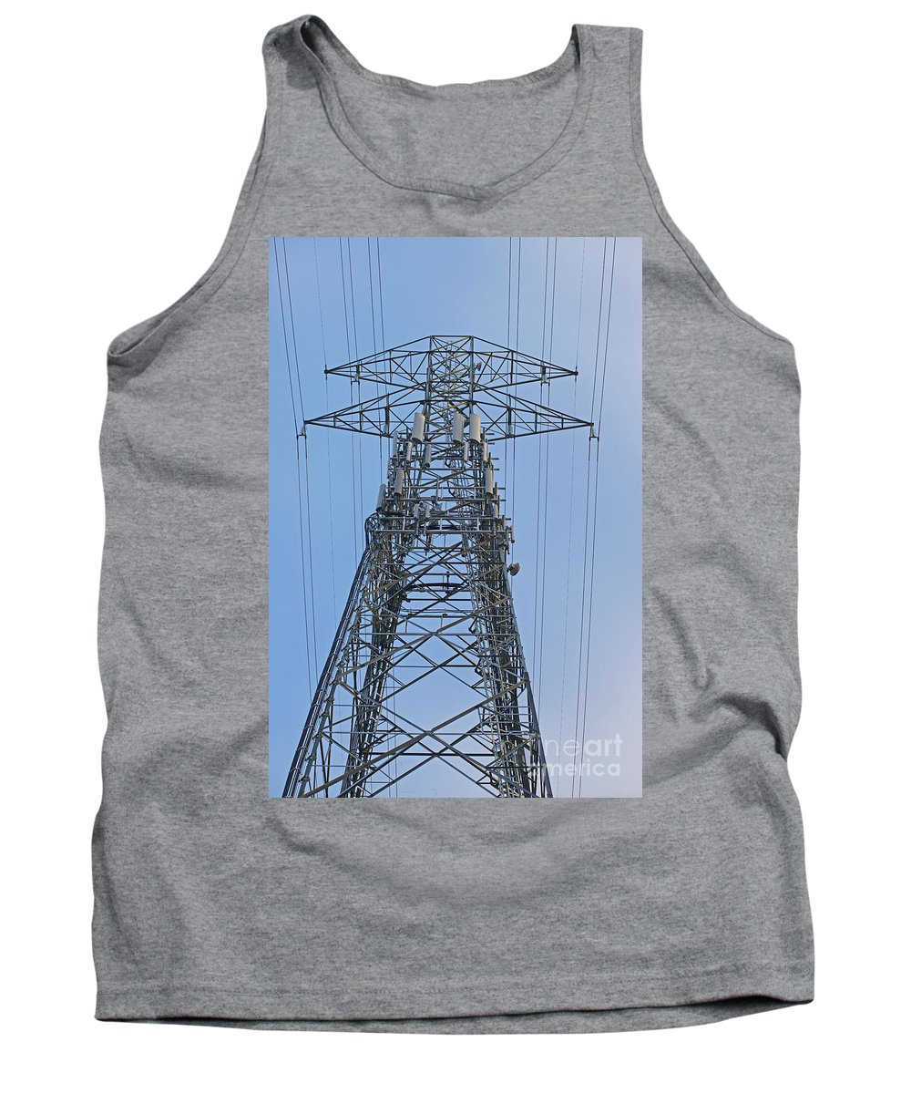 Towers Tank Top featuring the photograph Towers And Lines by Randy Harris