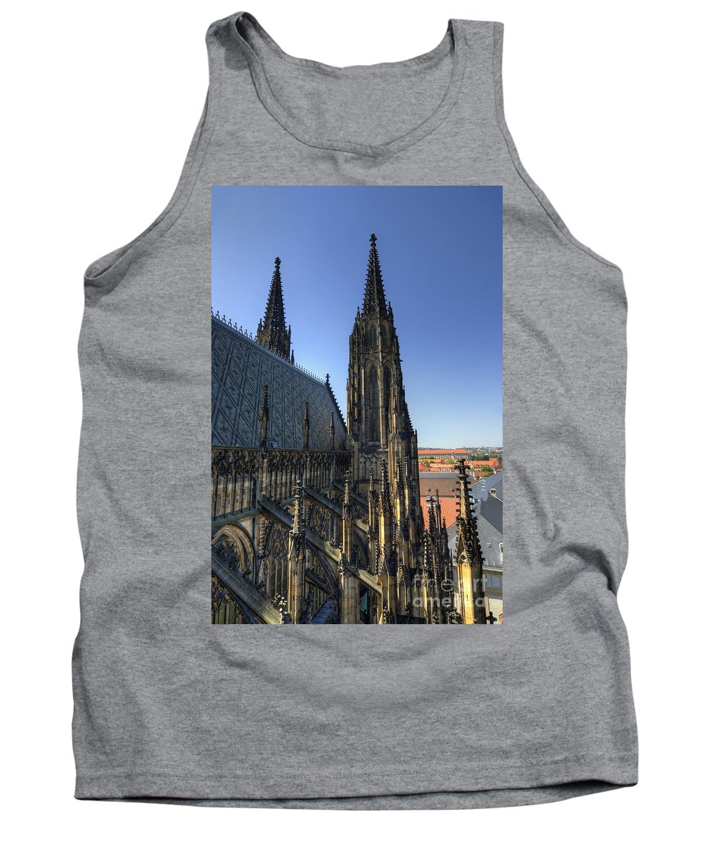 Pinnacle Tank Top featuring the photograph Towers Of The Cathedral by Michal Boubin