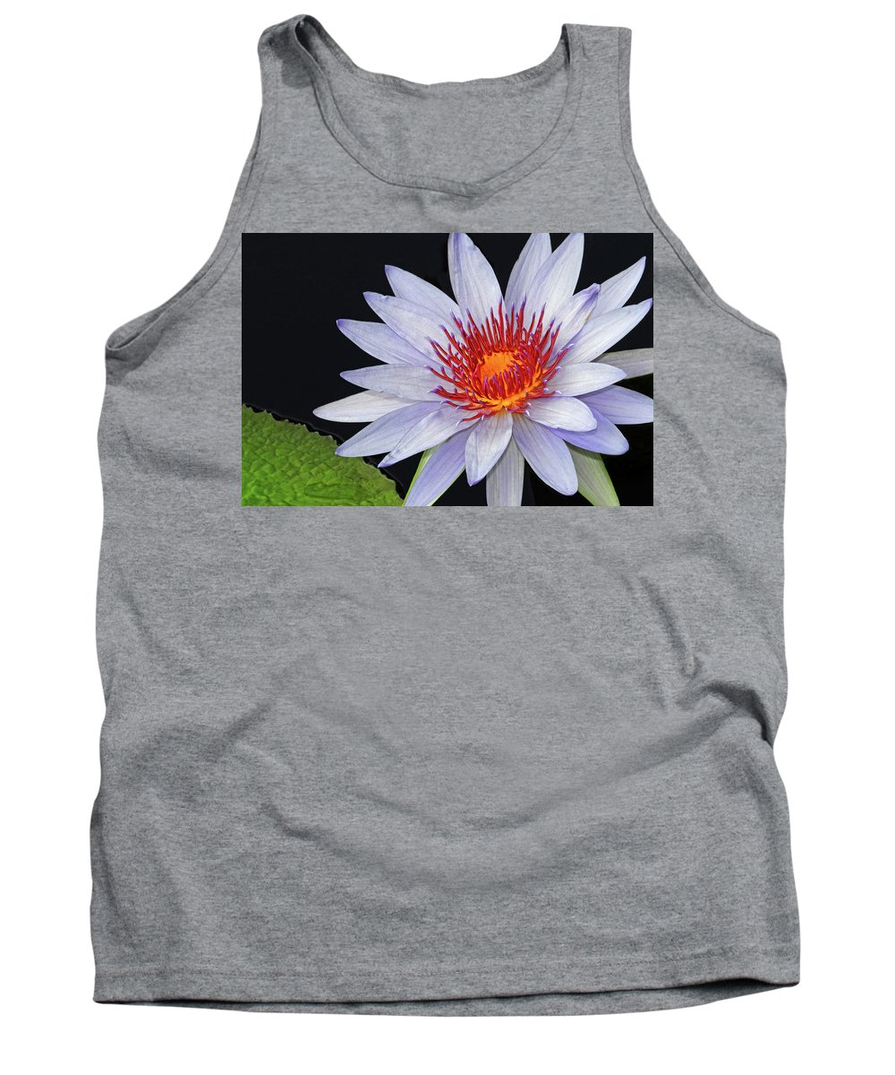 Waterlily Tank Top featuring the photograph Tropical Waterlily by Dave Mills