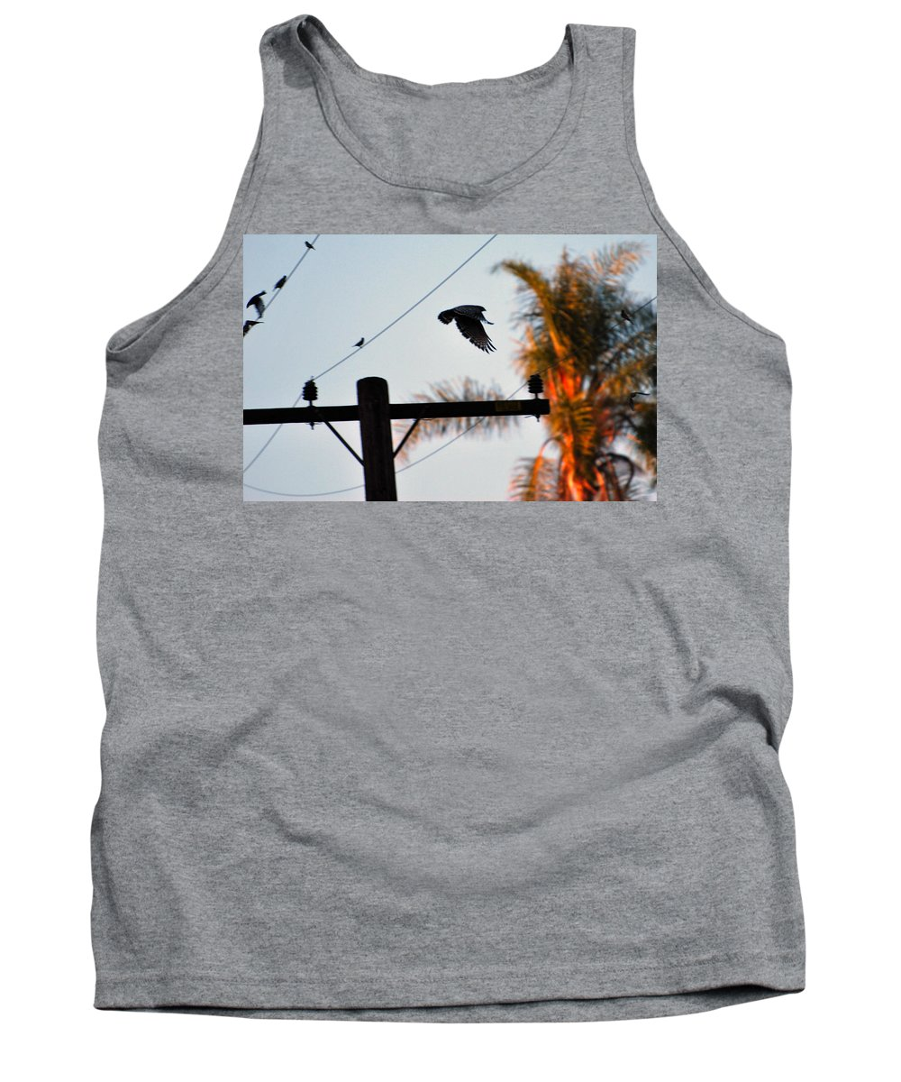 Hawk Tank Top featuring the photograph Up Up And Away by Stephanie Haertling
