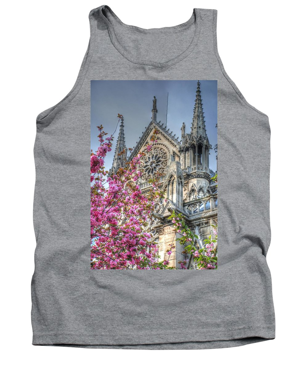 Notre Dame Tank Top featuring the photograph Vibrant Cathedral by Jennifer Ancker