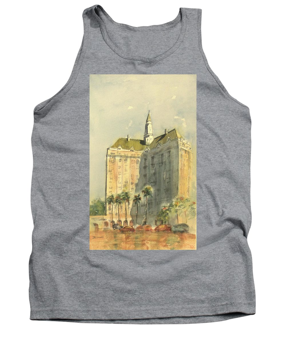Villa Riviera Tank Top featuring the painting Villa Riviera Another View by Debbie Lewis