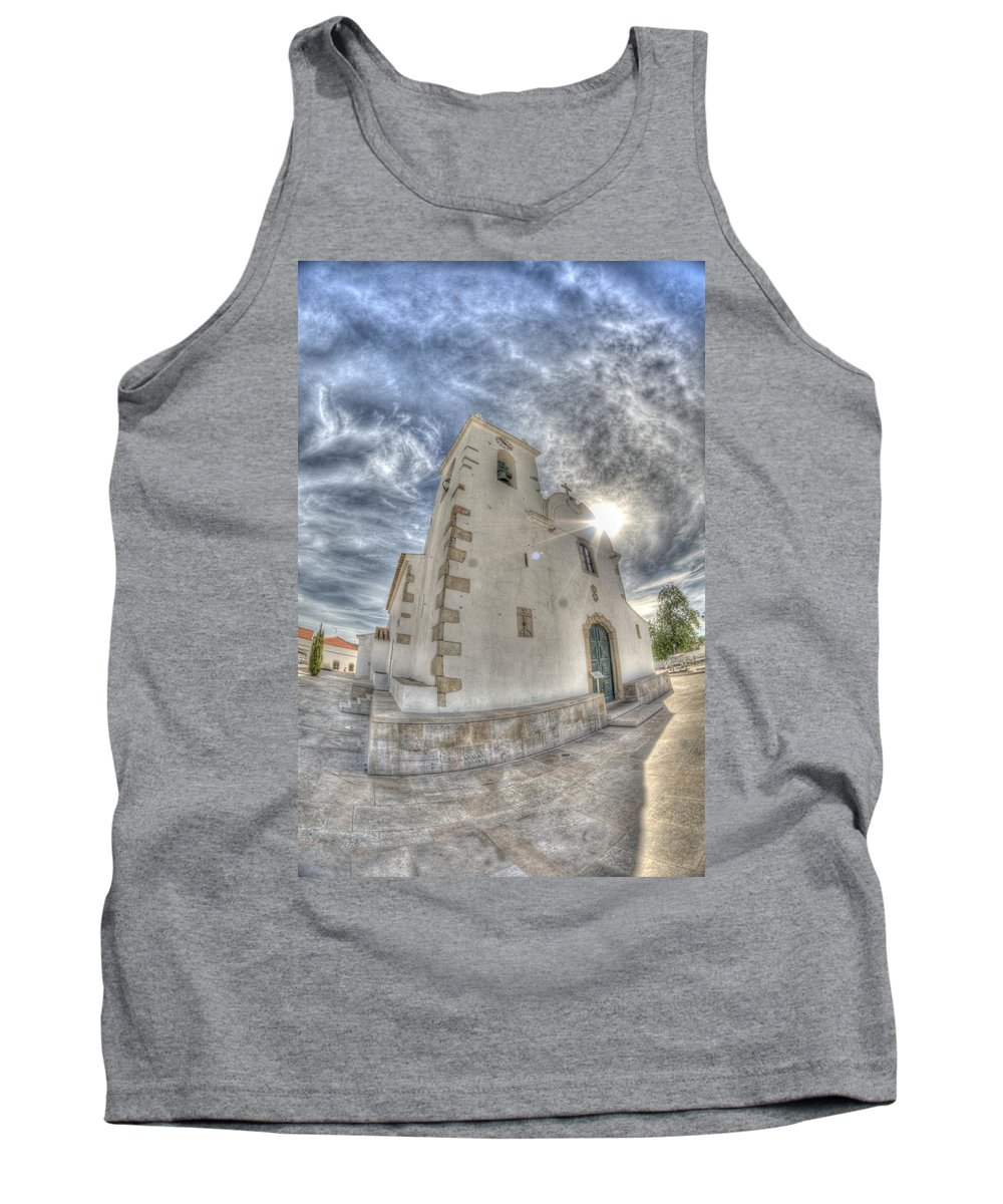 Algarve Tank Top featuring the photograph Village Church by Nathan Wright