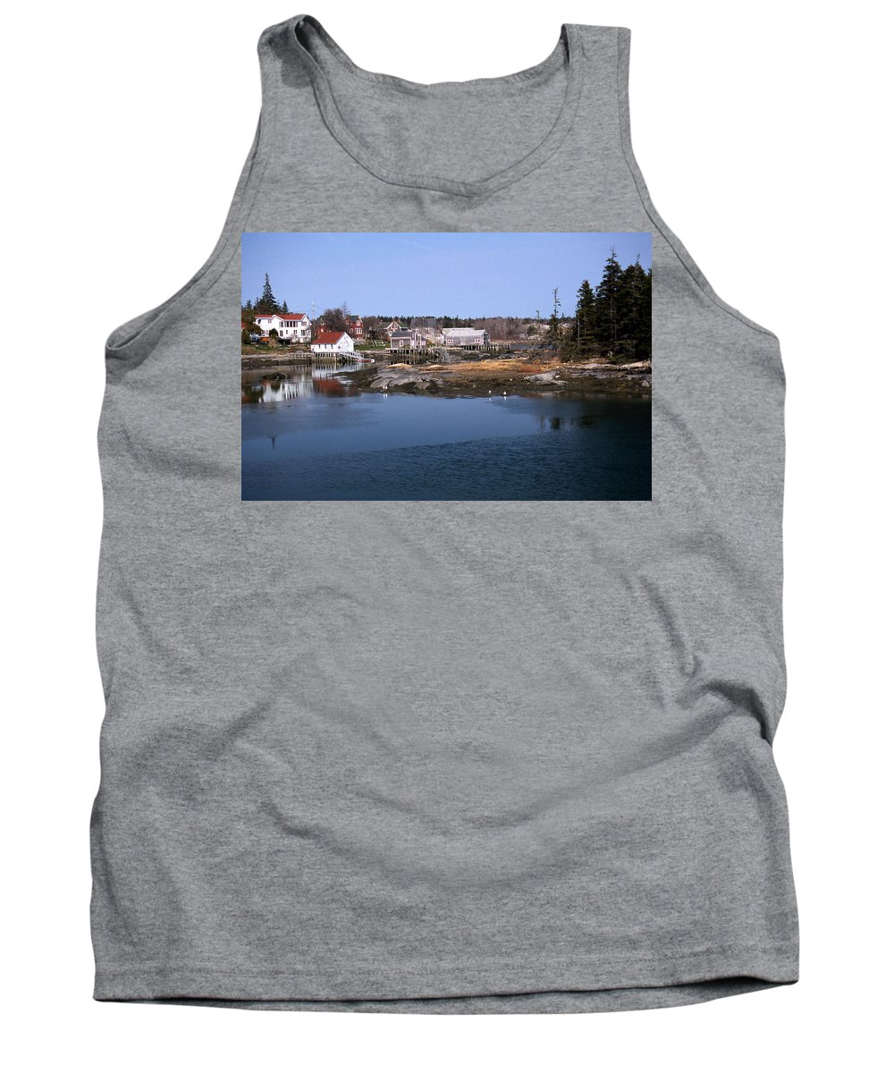 Me Tank Top featuring the photograph Vinalhaven Island by Skip Willits