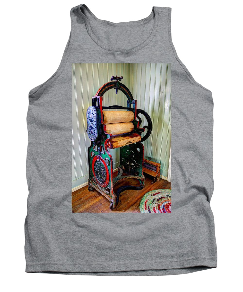 Turn Tank Top featuring the photograph Vintage Wringer by Ivan Slosar