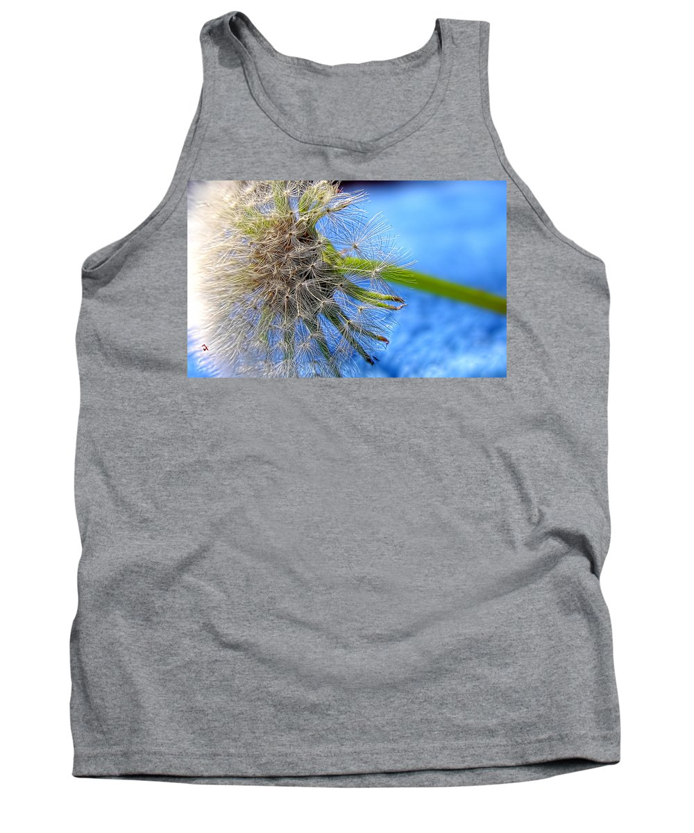 Weed Tank Top featuring the photograph Waiting For The Wind by Adam Vance