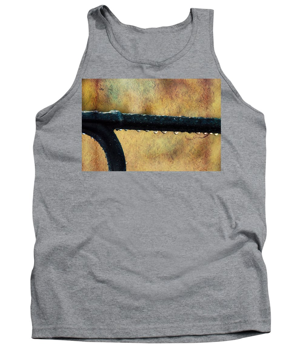 Bench Tank Top featuring the photograph Walk Me Out In The Morning Dew by Trish Tritz