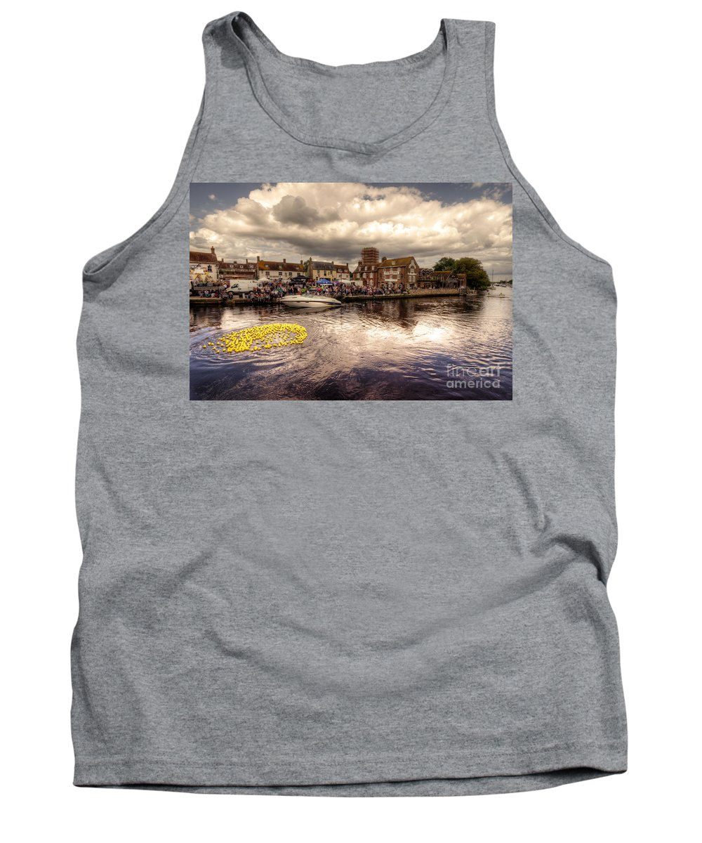 Wareham Tank Top featuring the photograph Wareham Duck Race by Rob Hawkins