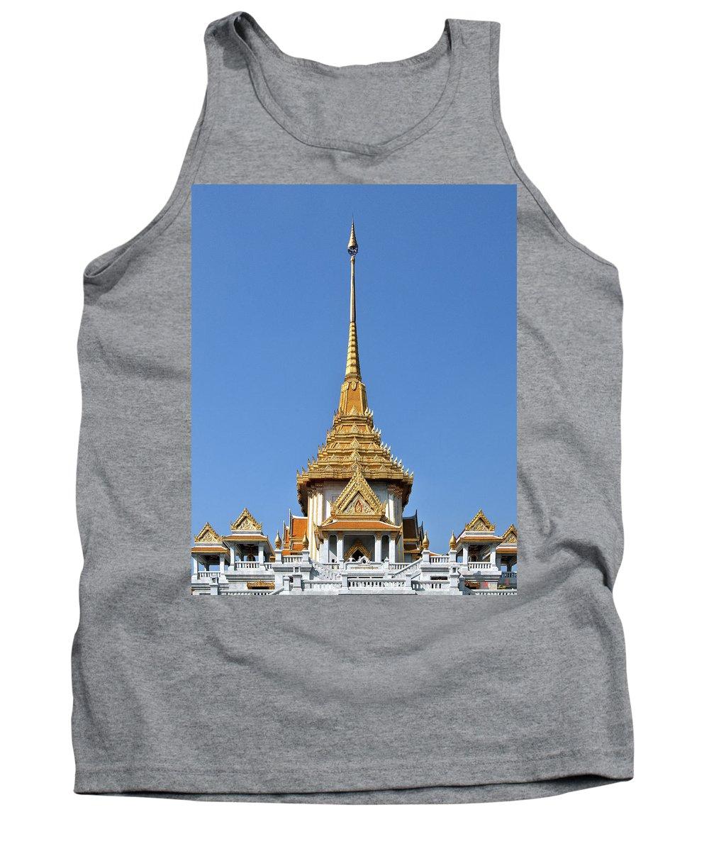 Bangkok Tank Top featuring the photograph Wat Traimit Phra Maha Mondop Of The Golden Buddha Dthb956 by Gerry Gantt