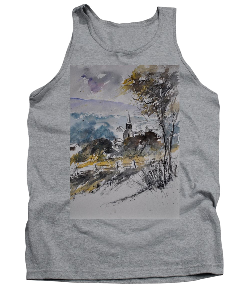 Landscape Tank Top featuring the painting Watercolor Lesterny by Pol Ledent