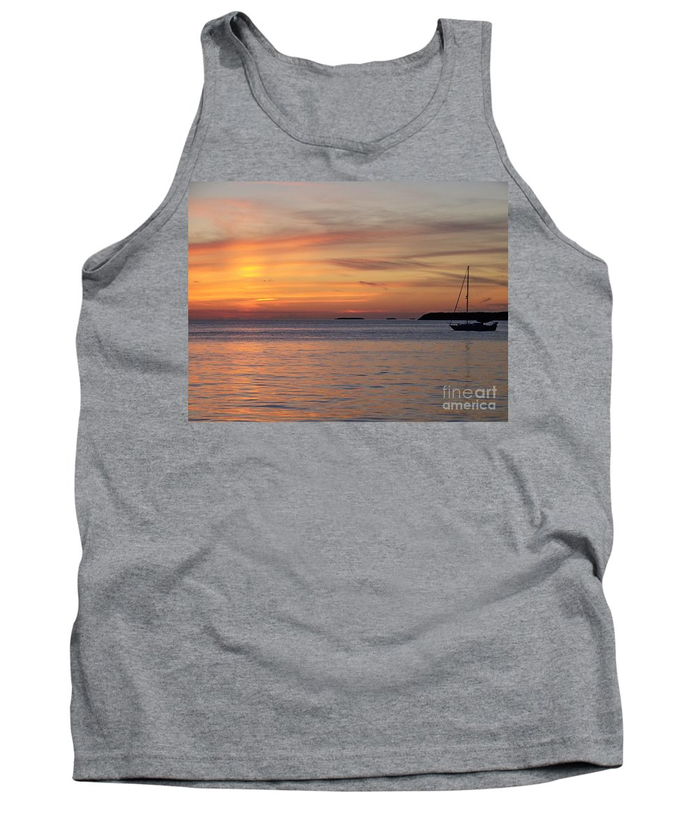 Romantic Tank Top featuring the photograph Watercolor Sunset by Greg Hammond