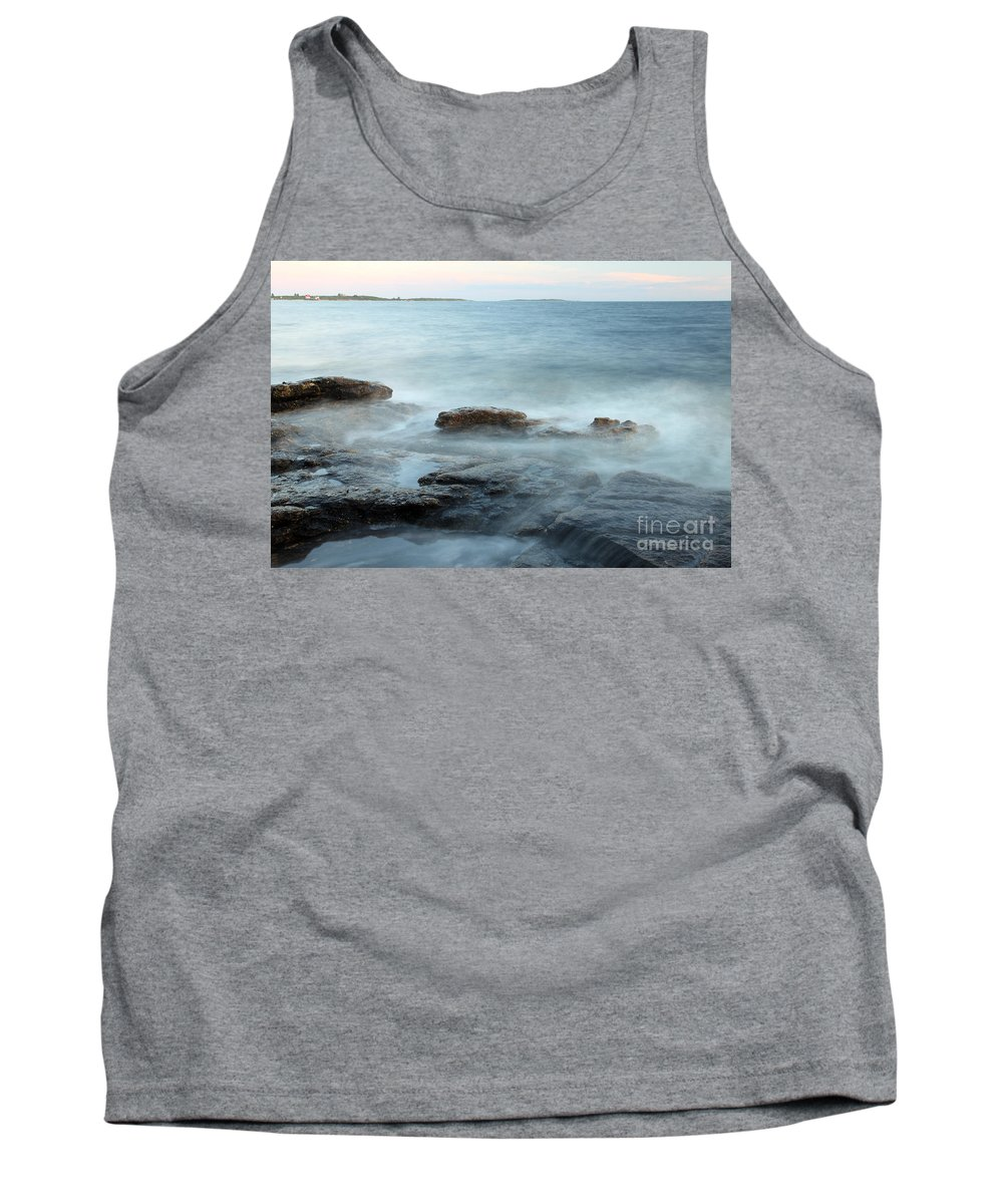 Landscape Tank Top featuring the photograph Waves On The Coast by Ted Kinsman