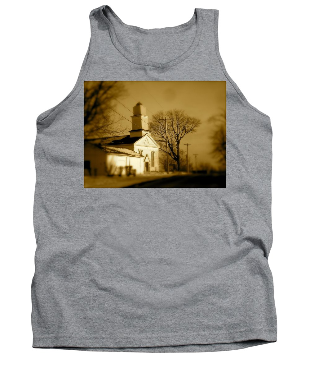Landscape Tank Top featuring the photograph West Barre Church by Arthur Barnes