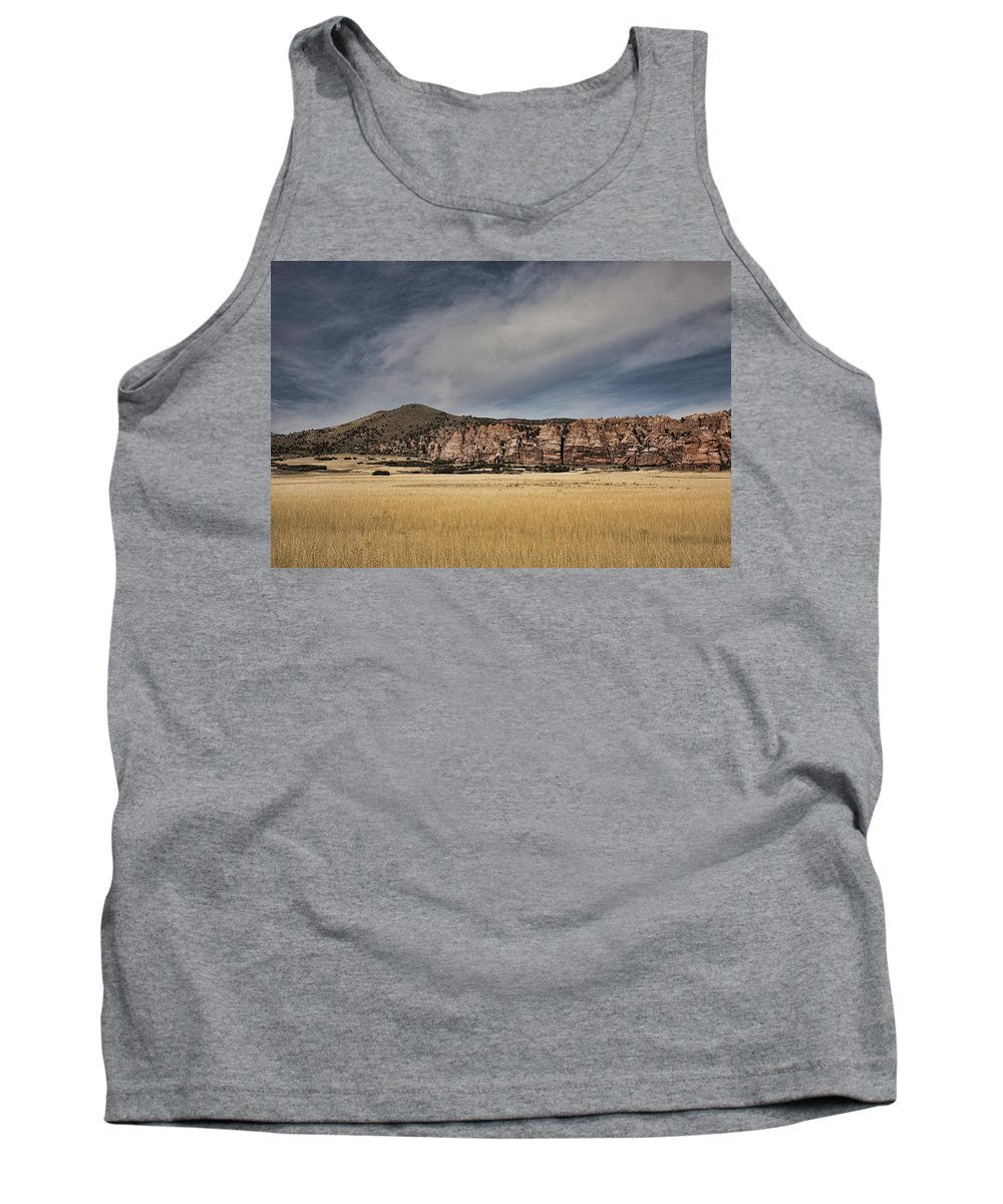 Wheatfield Tank Top featuring the photograph Wheatfield Zion National Park by Hugh Smith