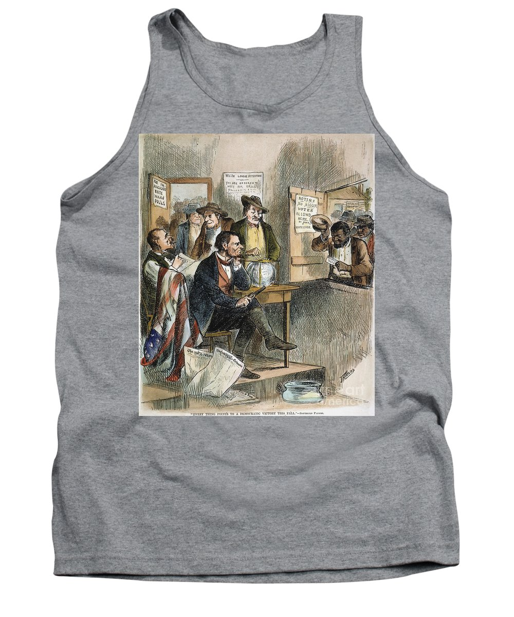 1874 Tank Top featuring the photograph White League, 1874 by Granger
