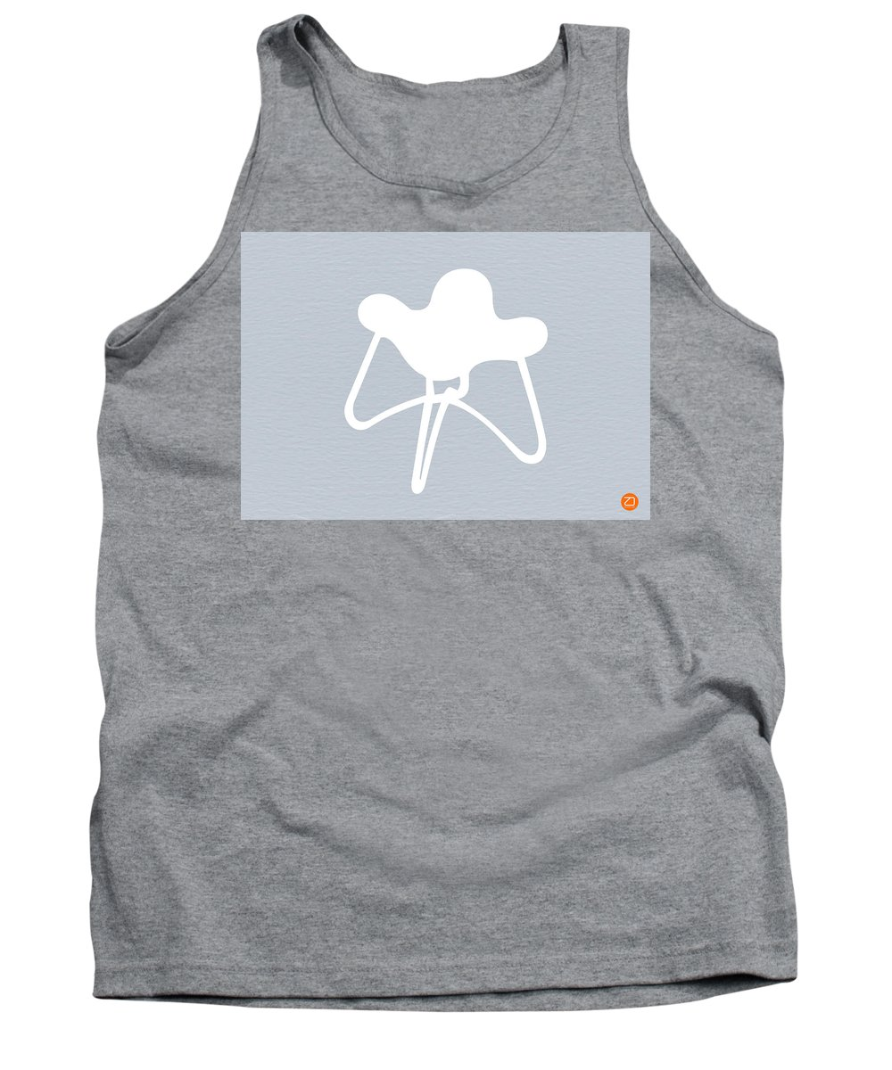 Tank Top featuring the mixed media White Stool by Naxart Studio