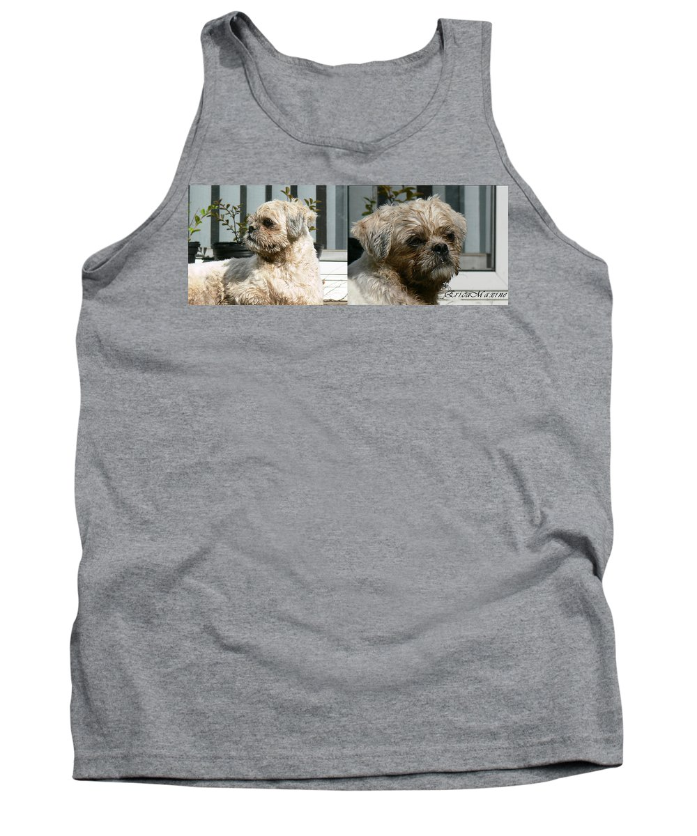 Dog Tank Top featuring the photograph Who Said Dirty Aint Cute by Ericamaxine Price